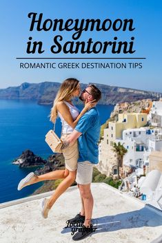 As one of the Cyclades Islands, a place formed over time by the eruption of volcanoes, Santorini is ideal for a honeymoon with its historic charm and striking beauty. Honeymoon Tips, Romantic Honeymoon, Santorini Vacation, White Building, Volcanoes, Greek Islands, Greece Travel, Beautiful Islands