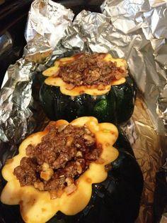 Fatback and Foie Gras: Slow Cooker Sausage Stuffed Acorn Squash Recipe .   A few modifications for Whole30 - dfm