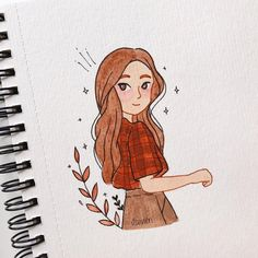 ✔ Stuff To Draw Ideas Sketch Books Girl Drawing Sketches, Girly Drawings, Cool Art Drawings, Pencil Art Drawings, Cartoon Drawings, Easy Drawings, Drawing Drawing, Illustration Inspiration, Cartoon Kunst