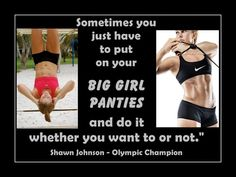 "Gymnastics Poster Shawn Johnson Olympic Gymnast Quote Wall Art Print 8x11"" Sometimes U Have To Put Your Big Girl Panties On - Free USA Ship"