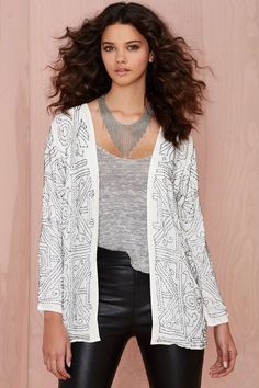 Glamorous Rock Steady Beaded Blazer | Shop Clothes at Nasty Gal