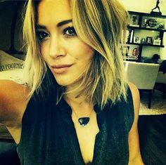 Hilary Duff's Choppy Short Hairstyles 2014 Trends