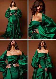 Sonam Kapoor Fashion Bollywood Celebrities, Bollywood Actress, Sonam Kapoor Movies, Green Gown, Ethnic Dress, Indian Beauty, Indian Actresses, Designer Dresses, Fitness Models