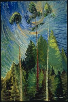 Emily carr a rushing sea of undergrowth, 1935 oil on canvas. collection of the vancouver art gallery, emily carr trust Tom Thomson, Canadian Painters, Canadian Artists, Henri Matisse, History For Kids, Art History, Emily Carr Paintings, Oil Paintings, Landscape Paintings