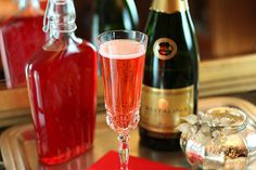 Make your own cranberry liqueur and serve with champagne for the perfect festive cocktail.