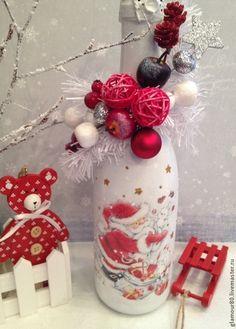 Купить Новогоднее шампанское - декупаж бутылок, новогоднее шампанское, Новый Год, новый год 2015, шампанское