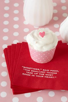 A Sweet Treat. Enjoy cute little cupcakes on personalized napkins. It's the perfect way to pass around your favorite quote and share in the baby love.
