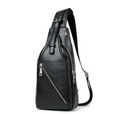 Rioa Crossbody Travel Bag in Black Leather Wide Webbing Strap Sport Gym Hiking ** Learn more by visiting the image link. (Note:Amazon affiliate link) #LuggageTravelGear