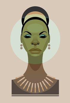 Nina Simone by Stanley Chow.