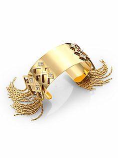 CA&LOU Fringed Cuff Bracelet