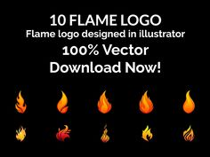 Flame and Fire – Vector Logo – Set 1 - https://free4all.screnter.com/flame-and-fire-vector-logo-set-1/