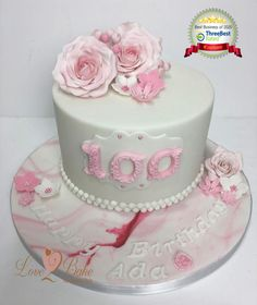 Pretty Pink Rose cake age 100 by Love2bake- Sept 2020 Pink Rose Cake, Cake Business, Cake Makers, Novelty Cakes, Homemade Cakes, Auntie, Cake Ideas, Pretty In Pink, Birthday Cake