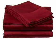 Vanessa Collection Luxury Solid Twin Extra Long Microfiber Sheet Set, Burgundy by Vanessa Collection. $17.98. Available Colors: Burgundy, Black, Gold, Ivory, Light Blue, Mocha, Plum, Sage, Silver, Tan, Taupe and White. Each set includes: one flat sheet 66 by 100, one fully elasticized fitted sheet 39 by 80, and one pillowcase 20 by 30. Care instructions: Machine washable in cold water with like colors Please follow the care instructions on the label carefully. 100...