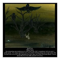 Skull Crow - Poster Perfect Poster...Skull, crow, crows, raven, tree, desert, dark, oil...Category, Animals, Wild, Birds, Crows