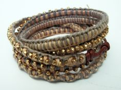 Azura Boutique - Chan Luu Wrap Bracelet with Gold Nuggets, $236.00 (http://www.shopazura.com/chan-luu-wrap-bracelet-with-gold-nuggets/)
