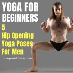 Most of us guys now sit down way too much. As a result, we get tight hips. Yoga can help with tight hips. Here are 5 awesome hip opening yoga poses for men Yoga Poses For Men, Basic Yoga Poses, Pranayama, Yoga Routine, Qi Gong, Sport Motivation, Yoga Meditation, Yoga Flow, Yoga Inspiration