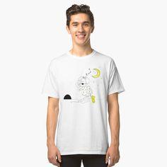 T-shirt classique 'rock'n'roll main dessin' par Fabien photofab. Graphic T Shirts, Design T Shirt, Shirt Designs, My T Shirt, V Neck T Shirt, Bird Shirt, Unicorn Shirt, Shirt Men, Shirt Dress