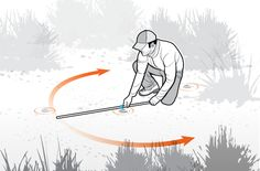 """Illustration by Pete Sucheski. Miss the vital area and a deer will bolt—but it won't drop. Instead, it will often slow to a walking pace, travel a distance, and then lie down to expire. And it will leave little, if any, blood trail. Recovering that deer requires tracking skills, and one of the best tools a hunter can have is what I'll call a """"stride stick."""" This is a slender, 4-foot wooden dowel with a large rubber band wrapped around it. Here's how to use it."""