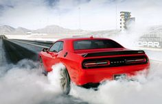 With the Dodge Challenger sometimes overshadowed by the muscle car war between the Chevy Camaro and Ford Mustang, the all-new 2015 Challenger SRT Hellcat hits the highways as Dodge's most powerful muscle car ever. Saleen Mustang, Ford Mustang, Ford Shelby, Shelby Gt500, Chevrolet Chevelle, Camaro Zl1, Buick Gmc, Nissan Skyline, Skyline Gtr