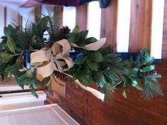 Burlap garland - Southern Living Idea House 2012, Senoia, GA