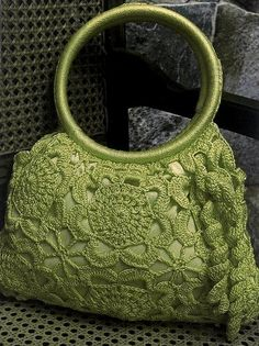 Green purse ♥LCB♥ with diagram