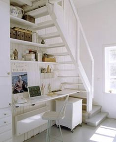 16 Interior Design Ideas and Creative Ways to Maximize Small Spaces Under Staircases. Good solution for extending bottom of staircase. Would build closet under stairs.
