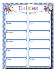 daisy girl scout meeting schedules