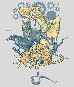 Shadow Moses Art Print by MeleeNinja Squid Tattoo, Tattoo Art, Shadow Moses, Cry Anime, Anime Art, Raven Logo, Gear Art, Girls Anime, The Fox And The Hound