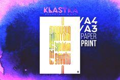Marysia była lekko w szoku – Plakat typograficzny. Klasyka polskiego rapu Rap, Etsy, Vintage, Poster, Wraps, Vintage Comics, Rap Music