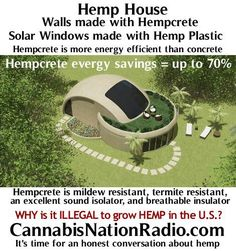 Hempcrete and Hemp Plastic