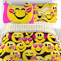 Emoji 3 Piece Microfiber Sheet Set with Pillowcase – Twin  http://aluxurybed.com/product/emoji-3-piece-microfiber-sheet-set-with-pillowcase-twin/