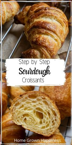 An easy sourdough croissant recipe. The end result are buttery, flaky pastries, sure to impress. Sourdough Starter Discard Recipe, Bread Starter, Sourdough Recipes, Sourdough Bread, Bread Recipes, Cooking Recipes, Easy Bread Recipe, Sourdough Boule Recipe, Easy Croissant Recipe