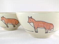 Fox Cereal Bowls