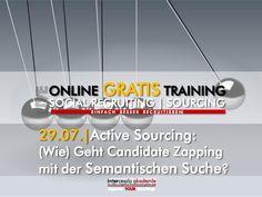 Active #Sourcing - Geht Candidate Zapping mit der Semantic Search? by @_intercessio via @slideshare