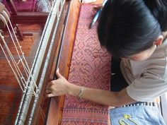 In Cambodia, generations of women taught their daughters the art of the loom. Sophisticated and complex, Khmer cloth was as evoca. Asian Clothes, One Day I Will, Ethnic Print, Sustainable Fabrics, Traditional Outfits, Textile Art, Cambodia, Woven Fabric, Beautiful Things