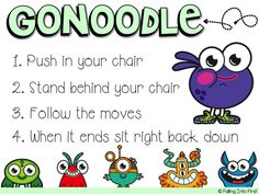 Using GoNoodle in the classroom as a district supported curriculum. Organization And Management, Classroom Organization, Classroom Management, Classroom Decor, Music Classroom, First Grade Procedures, Classroom Activities, Classroom Procedures, Kindergarten Classroom