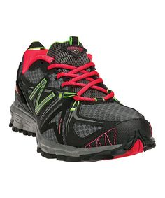 Take a look at this New Balance Black & Diva Pink 610v2 All-Terrain Running Shoe - Women on zulily today!