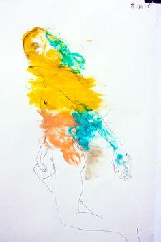 EAV Escola de Artes Visuais do Parque Lage - Rio de Janeiro. Modelo Vivo, Prof Gianguido Bonfanti. Carvão e guache sobre papel canson, 35x50cm #eav #parquelage #drawing #charcoal #charcoaldrawing #figure #fromlife #livemodel #gouache #modelovivo #desenho #carvão