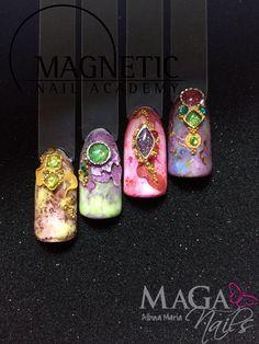 Marmoleado, Gel, Nail Art, Acrílico, Piedras en gel.