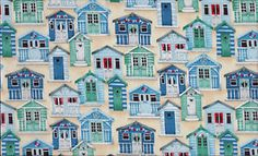 Beach huts - NEED a dress in this fabric