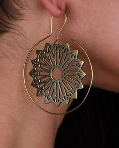 Tribal Earrings  Hoop Earrings  Big Hoops  by eleven44jewelry, $62.00