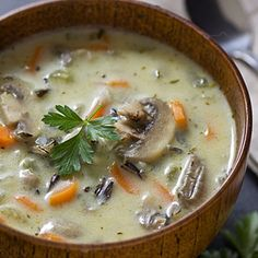 Wild Mushroom Soup With Sherry & Thyme Recipes — Dishmaps