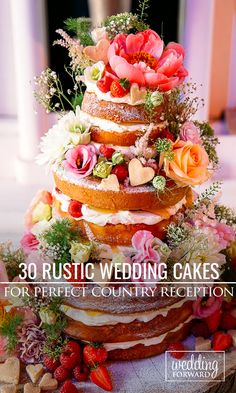 Who said rustic wedding cakes are boring? These cakes are both beautiful and delicious ❤ More in the gallery: http://www.weddingforward.com/rustic-wedding-cakes/