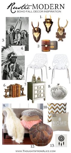 Thoughts from Alice: Rustic Modern Boho Fall Decor Inspiration with source list!
