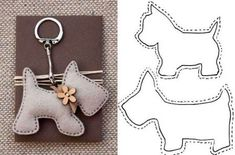 lovely felt dog patterns, for key ring or i can image the poodle hanging from a Paris bag as a charm, so cute 20 moldes que vc precisa ter Free sewing pattern for doggie keychains Fifi the French Poodle - made of felt and pom poms Hay q probaaaar! Sewing Toys, Sewing Crafts, Sewing Projects, Craft Projects, Felt Patterns, Stuffed Toys Patterns, Craft Patterns, Felt Crafts, Fabric Crafts