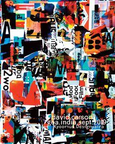 Instagram post by David Carson • Oct 1, 2019 at 3:04pm UTC Identity Design, Brochure Design, Visual Identity, Identity Branding, Corporate Identity, Graphic Design Posters, Graphic Design Typography, Graphic Designers, David Carson