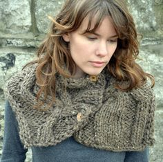 Cable Knit Collar Cowl