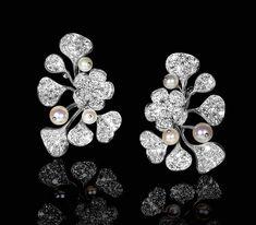 Stud Earrings Solid 925 Sterling silver Pearl Flower Beautiful Women Jewelry Gft #NIKI #Stud