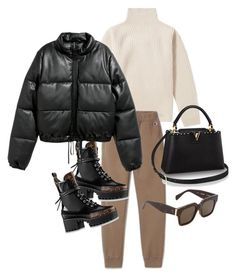 If you love an edgy vibe with your classic wardrobe and need some ideas of how to incorporate it into your style, I brea Casual Winter Outfits, Winter Fashion Outfits, Classy Outfits, Look Fashion, Stylish Outfits, Autumn Winter Fashion, Korean Fashion, Fall Outfits, Mode Outfits