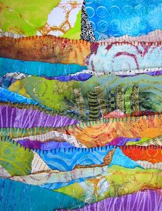 Enjoy five more free bonus projects from Gelli Plate Printing by Joan Bess in this post on CreateMixedMedia.com! #gelliplate #mixedmedia #acrylicpainting